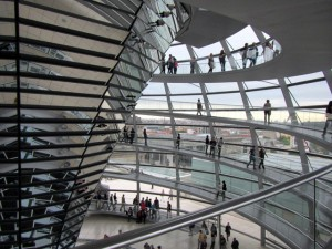 Glass dome on the Reichstag building